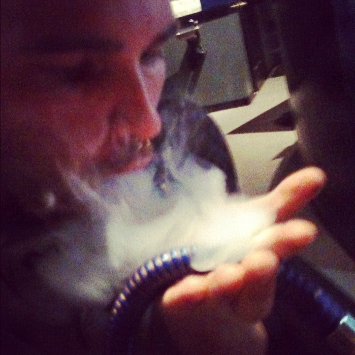Oasis Hookah Lounge: Social Smokers: Smoke Tricks!