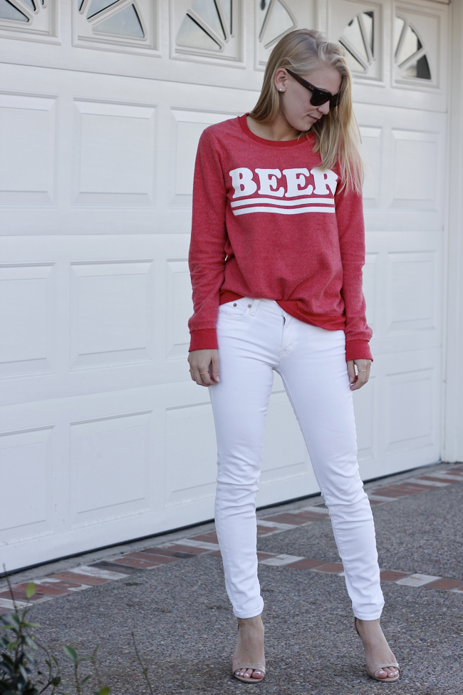 Shae Roderick, beer, sweatshirt, Chaser, Current Habits, fashion blogger