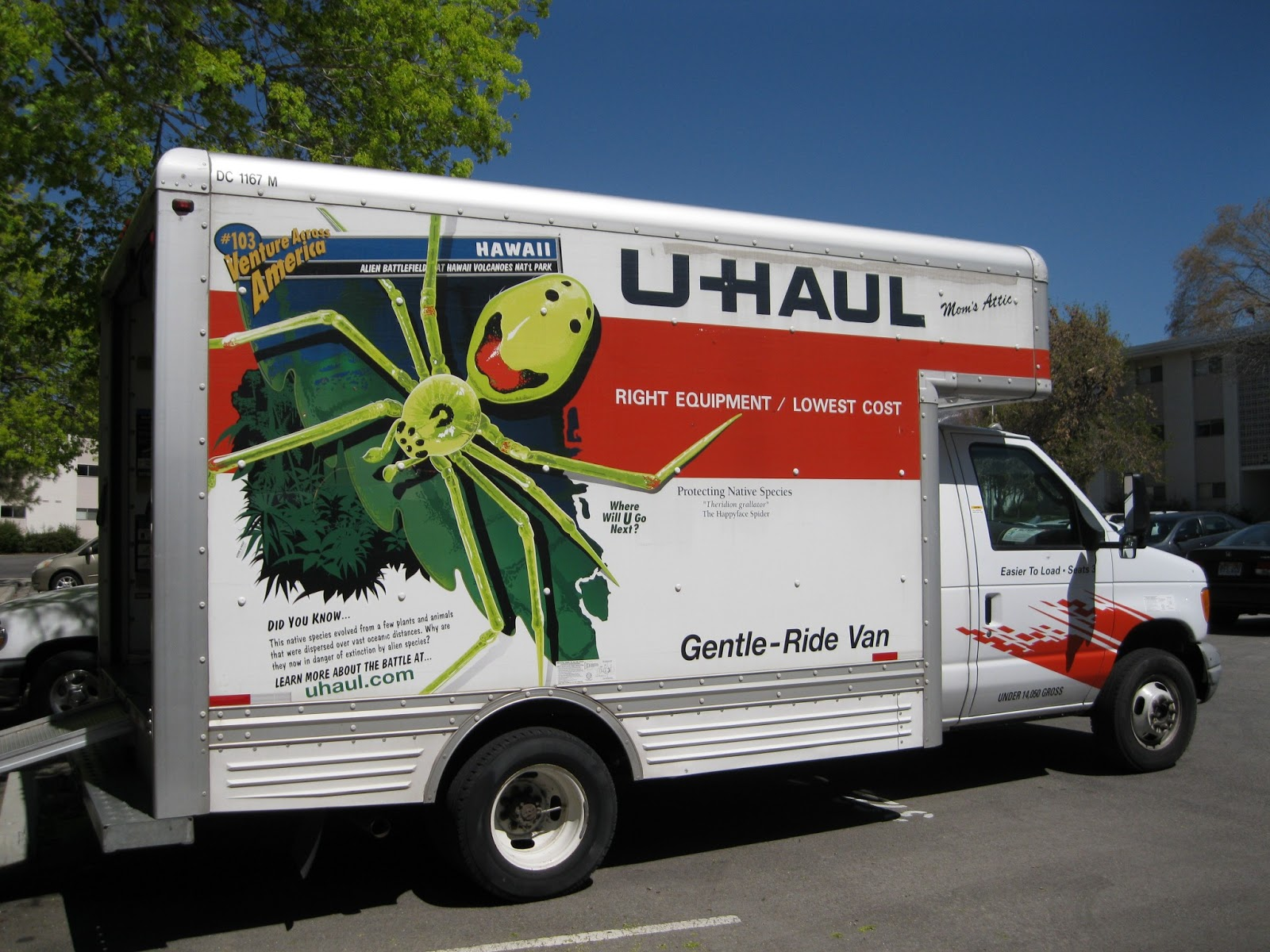 ... , but U-Haul was less than sympathetic towards our request so switch