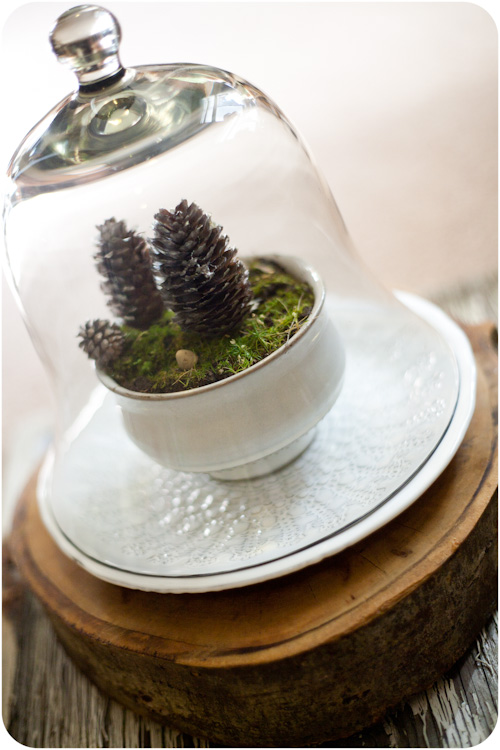 DIY Wedding Idea Winter Landscape Centerpiece