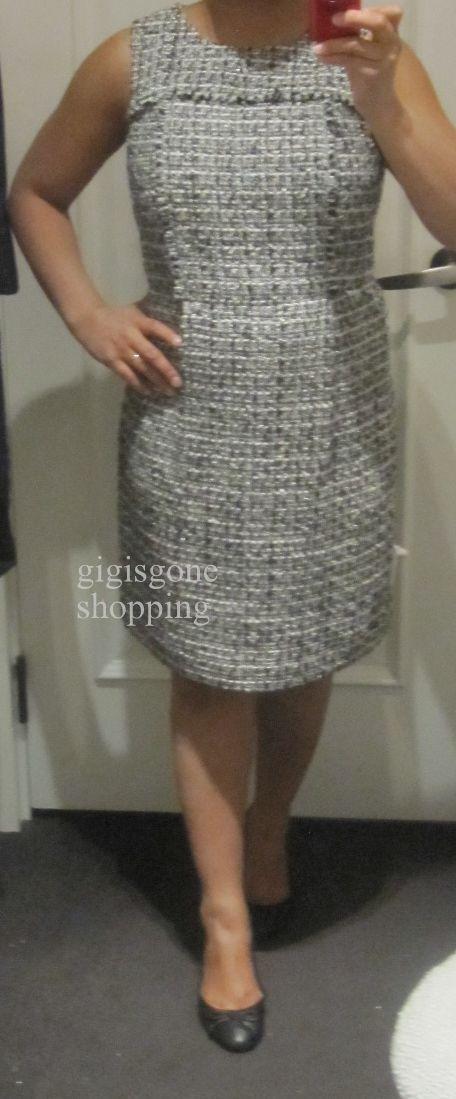 J cre white teed dress
