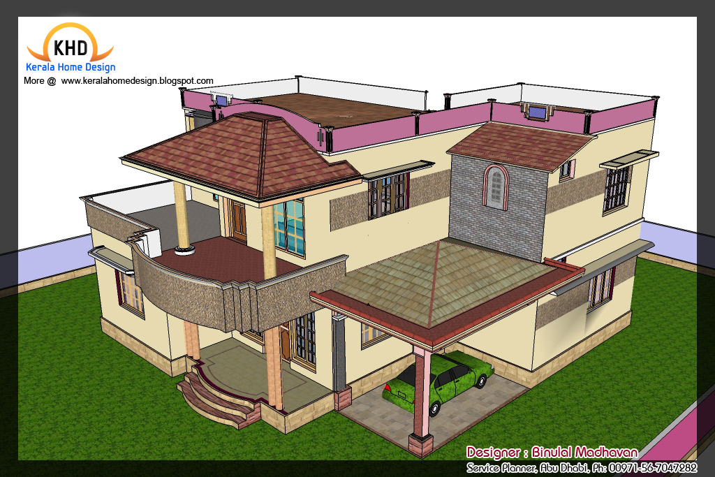 House Plan and Elevation - 2292 Sq. Ft.   home appliance
