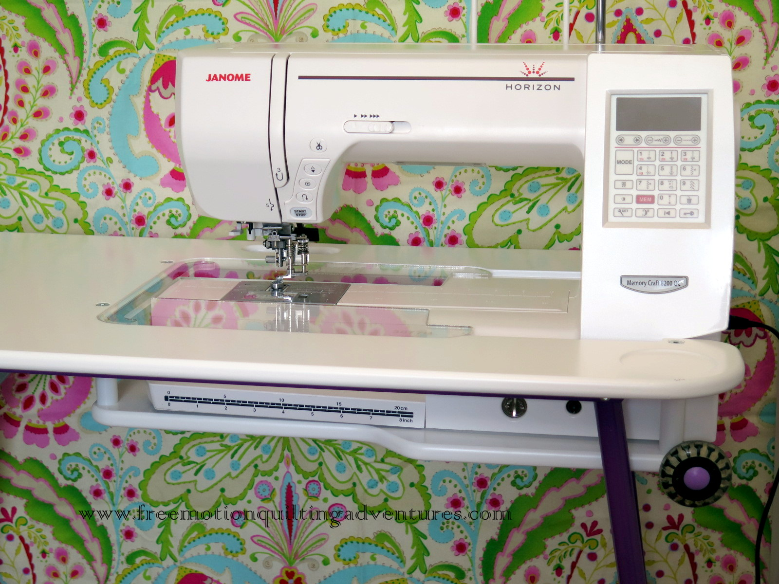 SewEzi portable table and Janome 8200