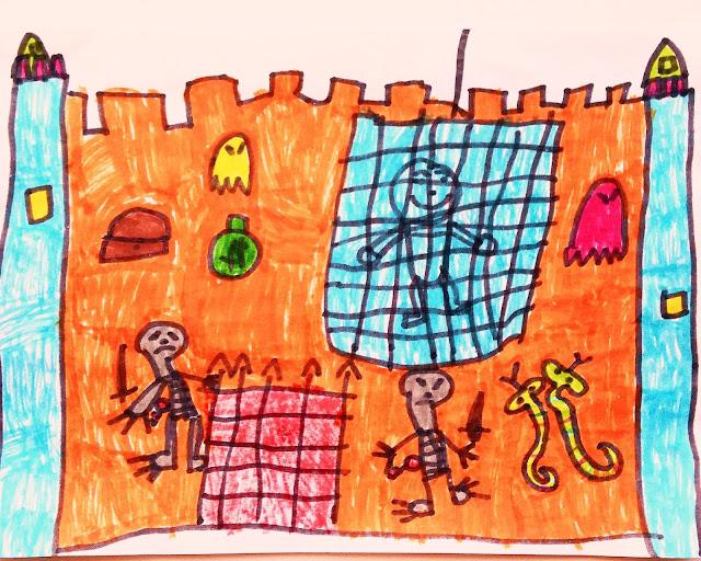 dessin enfant tournesol chateau