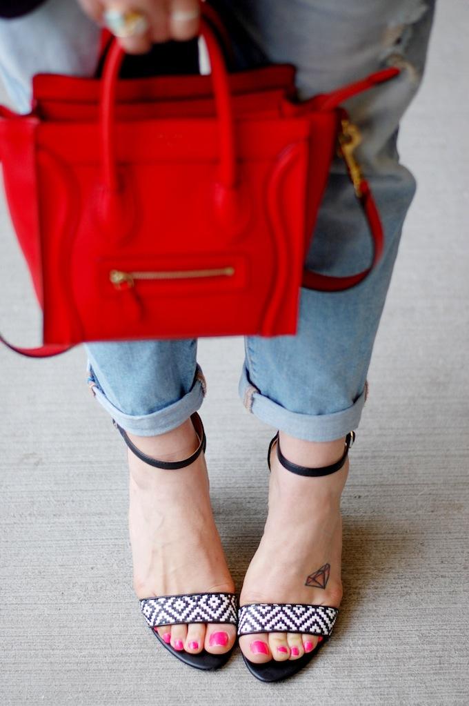 BCBGMaxAzria boyfriend blazer, Celine Nano and Gap boyfriend jeans by Vancouver fashion blogger Aleesha Harris of Covet and Acquire.