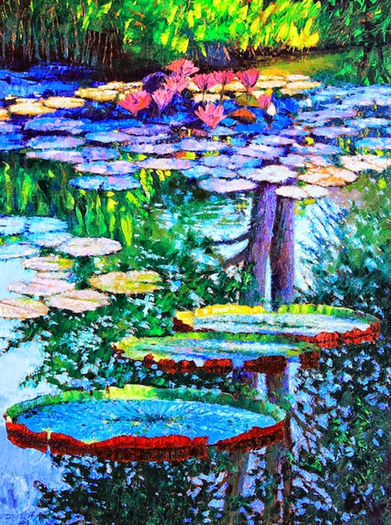 Pintura moderna y fotograf a art stica cuadros plantas - Oleos de jardines ...
