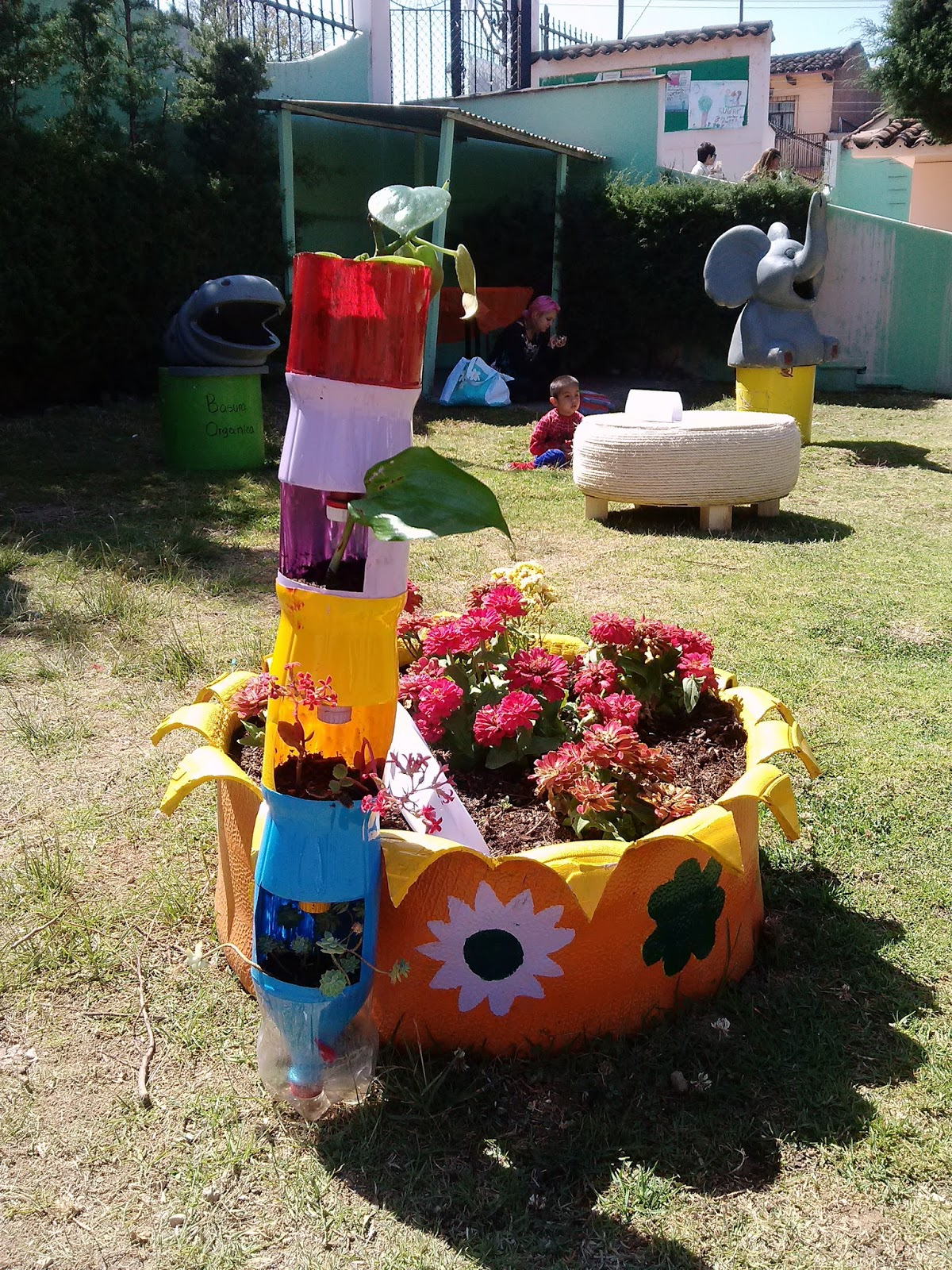 jardin vertical botella PET