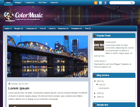 ColorMusic Blogger Theme