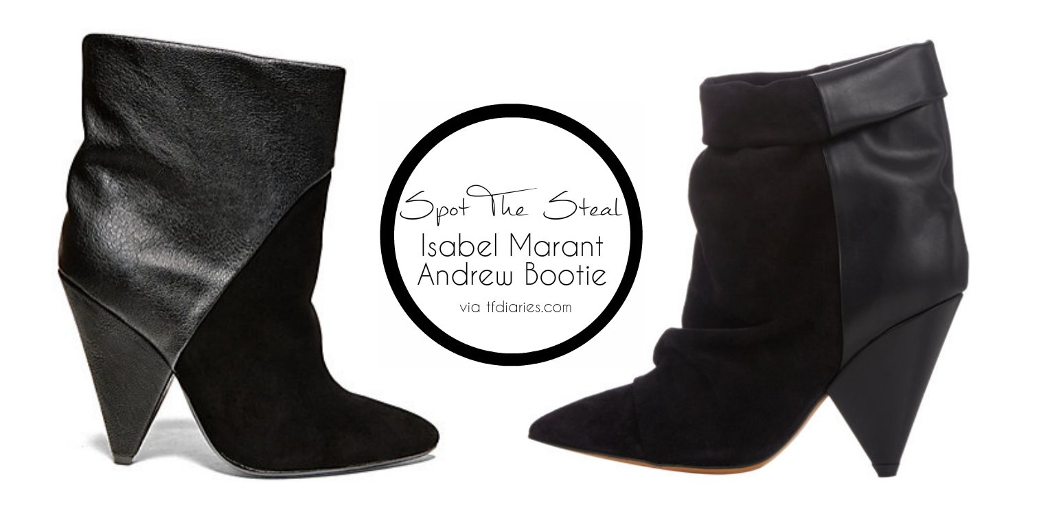 isabel marant dupe, isabel marant andrew bootie look for less, look for less, cone heel bootie, black boots, cool boots, isabel marant andrew