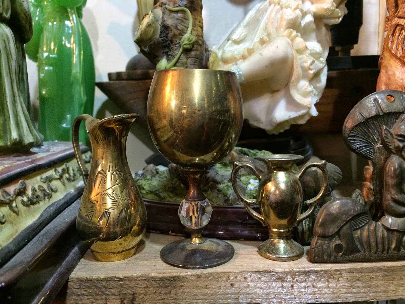 antique goblets shopping