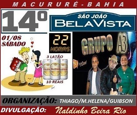 14º SÃO JOÃO DA BELA VISTA-MACURURÉ BA