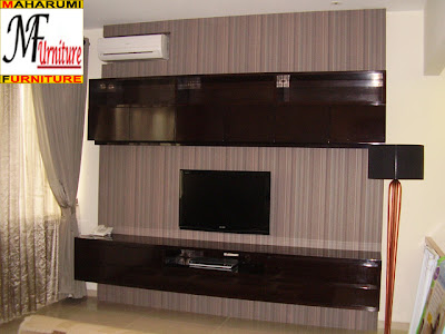 furniture Backdrop Rak TV Credenza Panel Dinding - Jasa Pembuatan Setting Interior Furniture