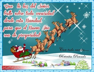 Postal de feliz navidad y prospero año 2013