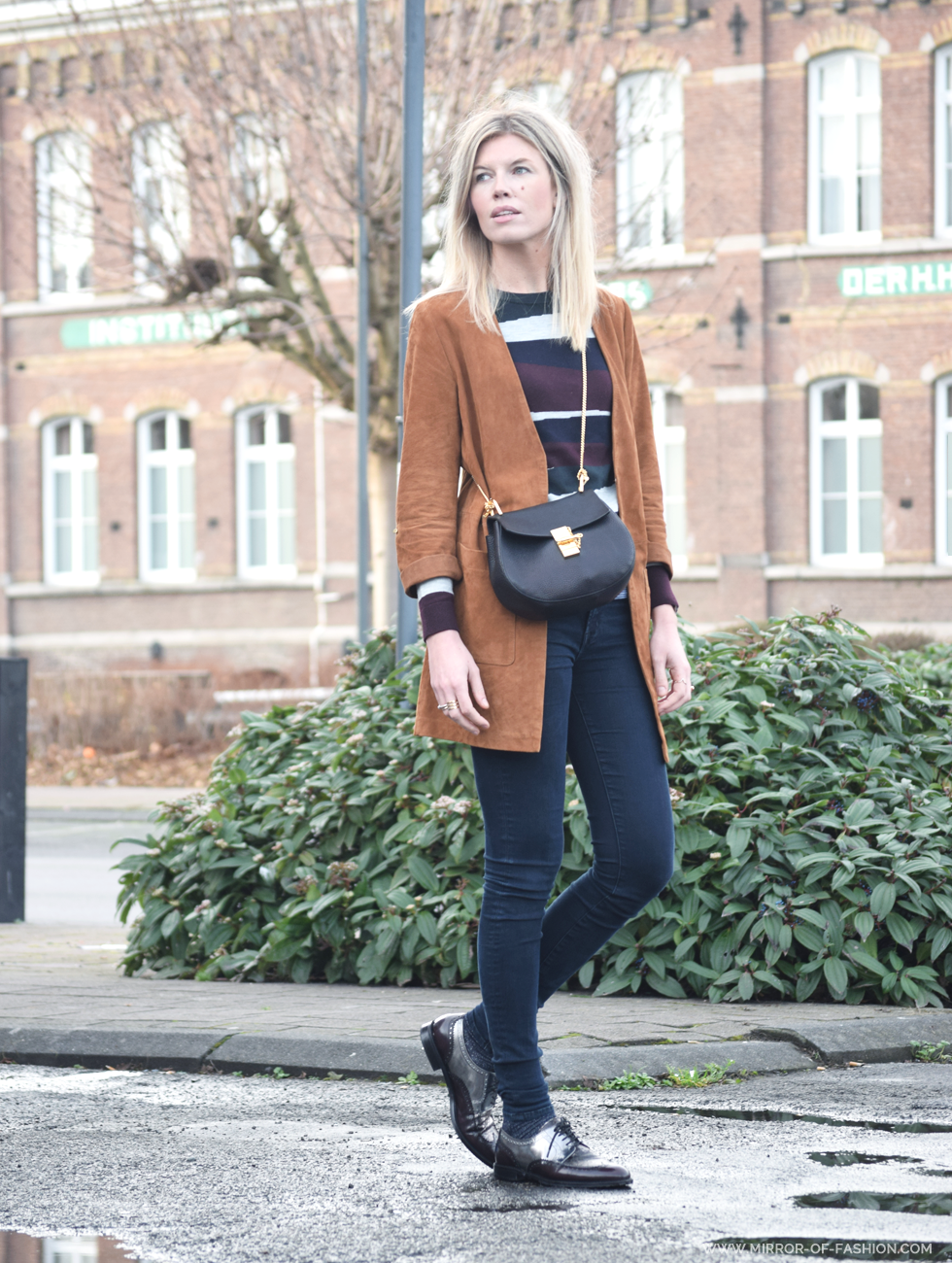 Outfit of the day, Carven, Gigue, Jbrand, Chloé, Esprit, ootd, winter, suede, Chloé Drew