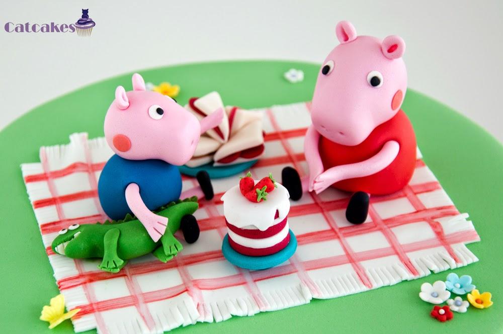 Peppa Pig en fondant