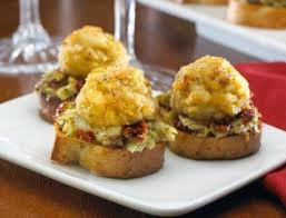 Chesapeake Bay Crab Crostini with Artichoke Pesto