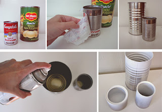 como decorar latas vacias