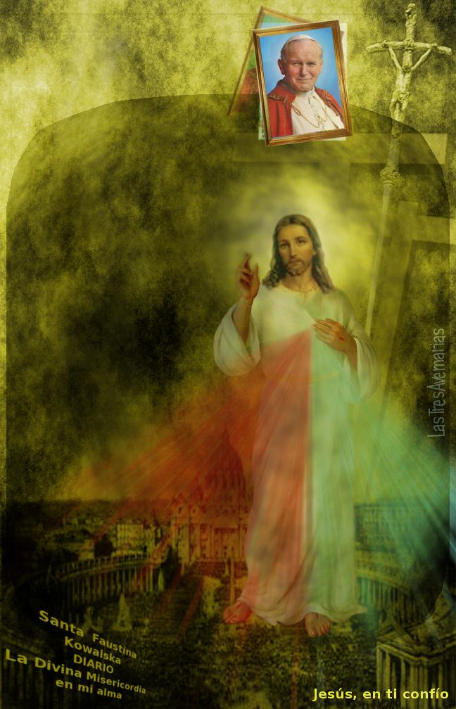 foto con jesus y el papa juan pablo segundo