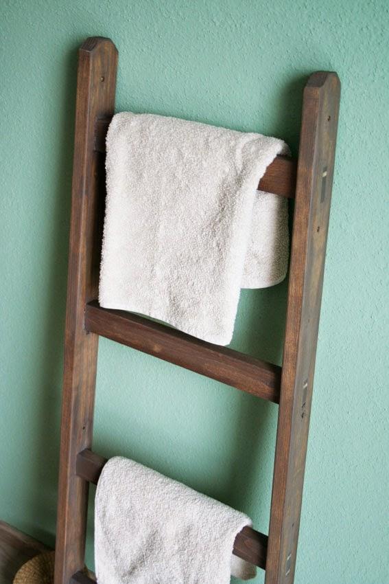 Gustave et voltaire diy decorative ladders echelles - Echelle decorative bois ...