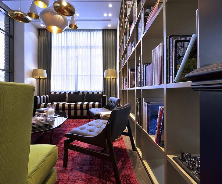 Book shelf in Hotel Indigo in Tel Aviv