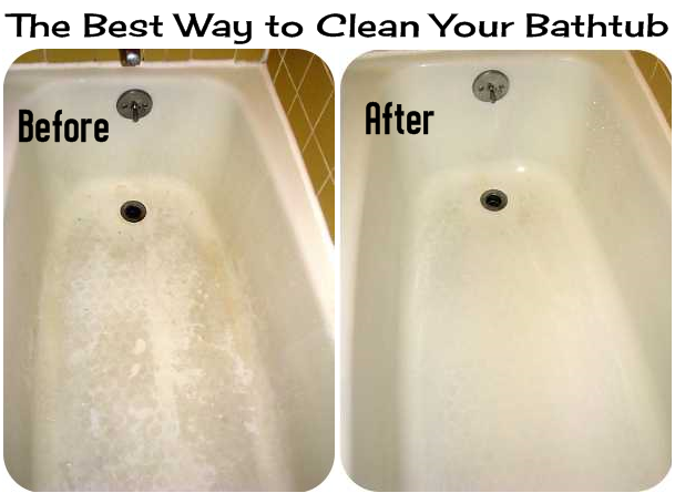 The best way to clean your bathtub diy craft projects How to clean bathtub