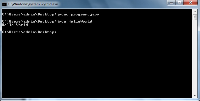 "My First Java Program: Print a Message ""Hello World"""