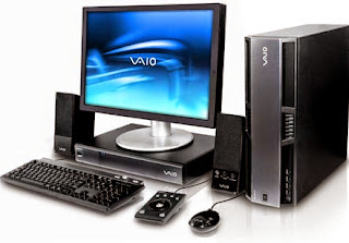Desktop PC with LCD Monitor, Keyboard, Mouse and Speaker