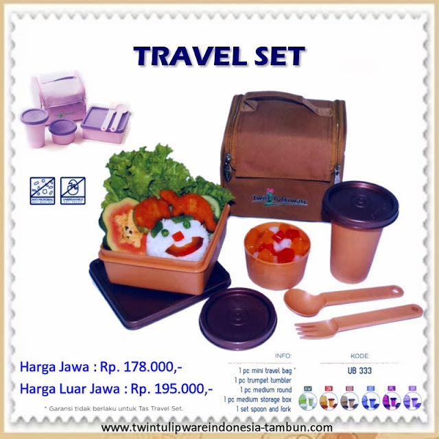 Travel Set Tulipware 2013