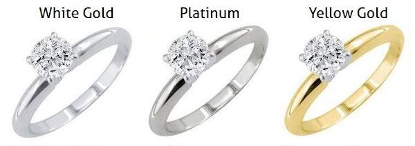 100 white gold vs platinum engagement wedding rings