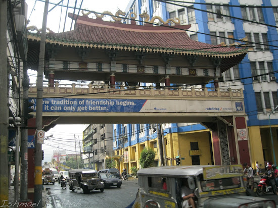 Chinese-designed arch along Quintin Paredes Street.