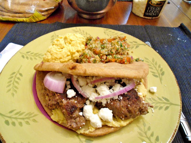 The Capital Kitchenistas: Lamb Kefta Burgers with Tabbouleh and Hummus