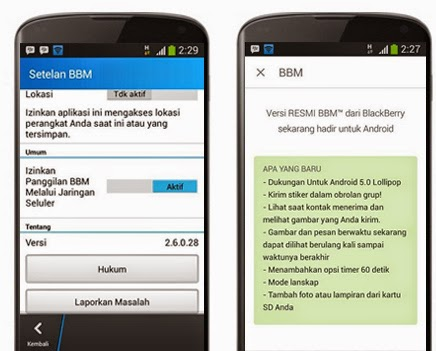 Download BBM versi paling baru 2.6.0.28 Apk