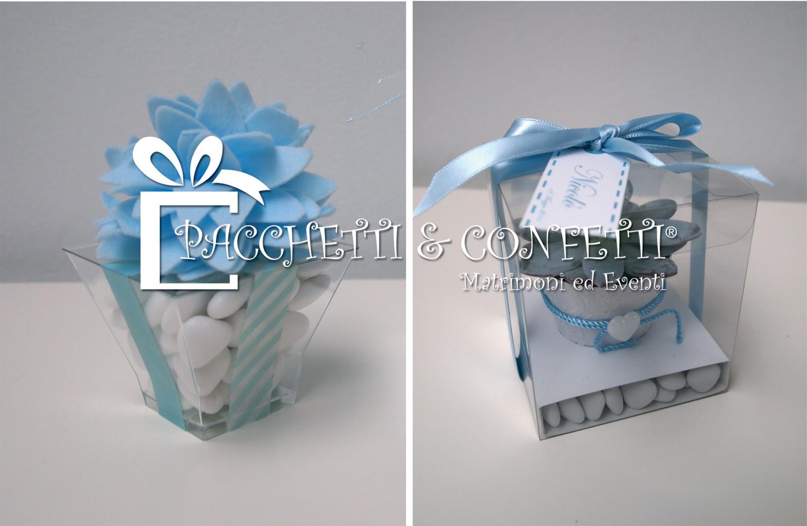 Pacchetti e confetti bomboniere battesimo bimbo - Decorazioni battesimo bimbo ...