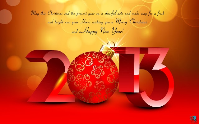 May this Christmas end this Present year on a cheerful note and....