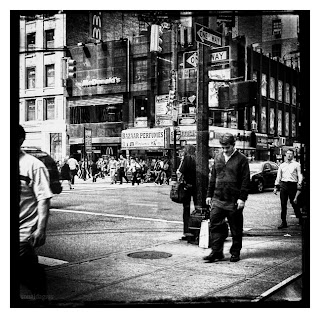 Man walking in New York City