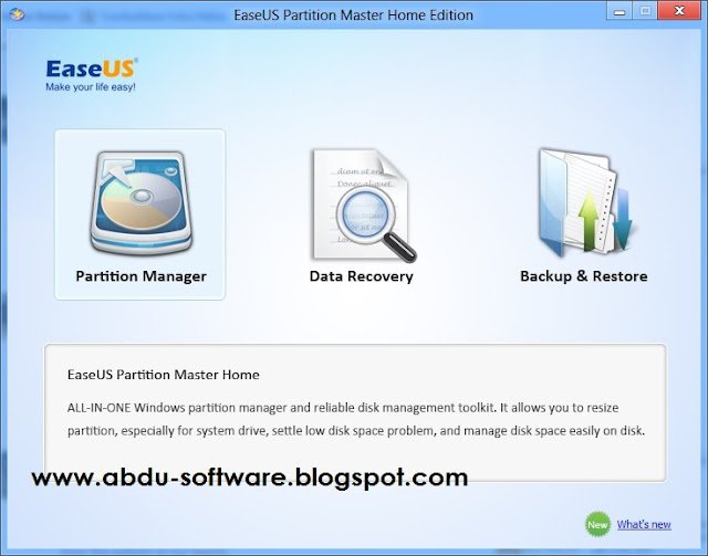 Download EASEUS Partition Master 9.2.1 Terbaru | Disk Management