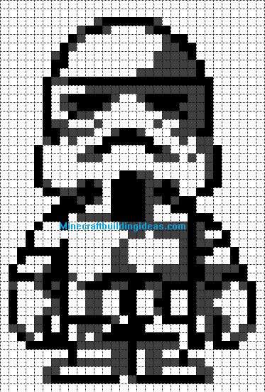 Minecraft pixel art templates storm trooper for How to make minecraft pixel art templates