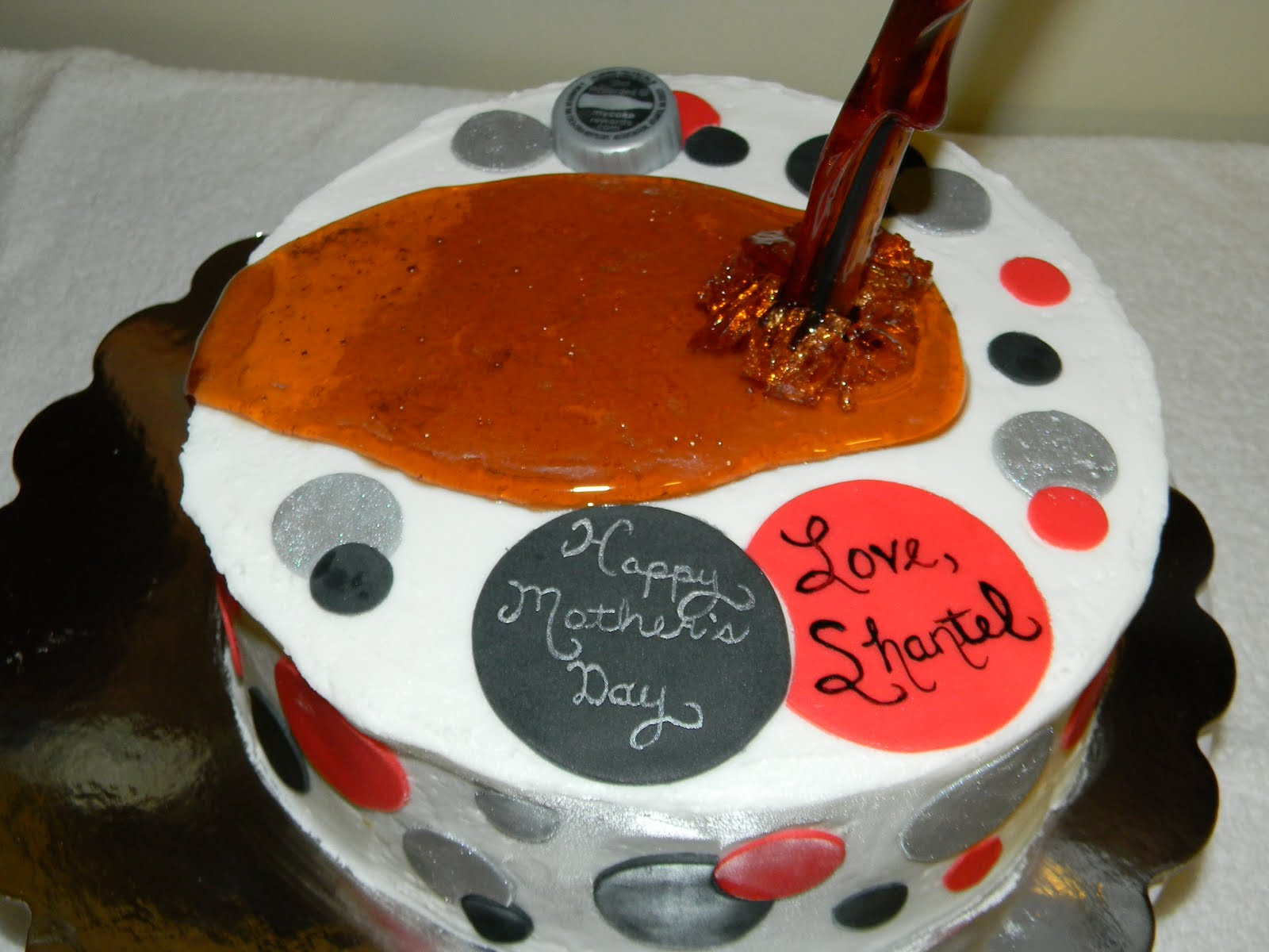 """Custom Cakes by Christy: """"Pouring"""" Diet Coke Cake"""