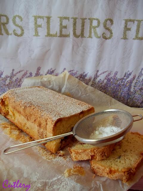 Levandulový chlebík s kúskami bielej čokolády