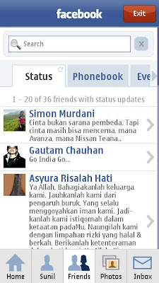 Official Facebook App for Symbian