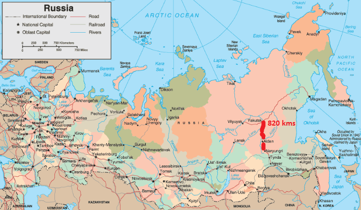 Nexus Expedition Departing Yakutsk Southbound On Lena Highway M - Lena river on world map