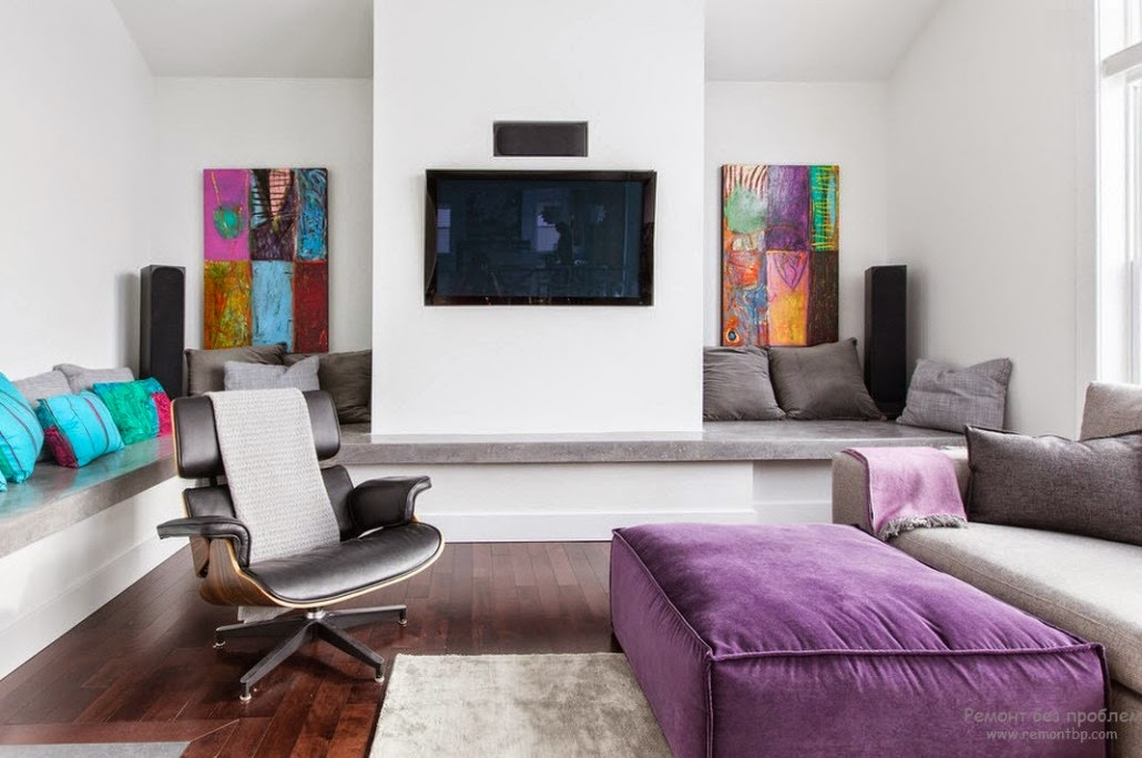 20 white living room design ideas colorful decorations for White and purple living room designs