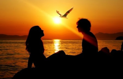 Most Beautiful Romantic Couple Sunset Background wallpaper