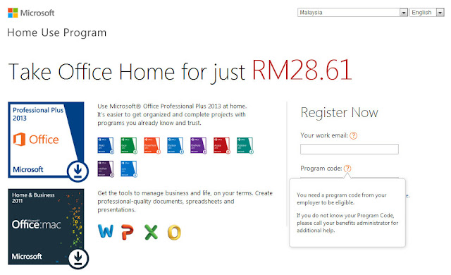 Pembelian MS Office Pro 2013 melalui Home Use Program