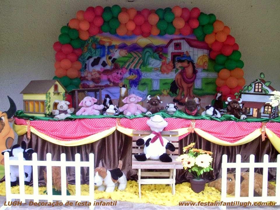 Tema Fazendinha para decoração de festa infantil