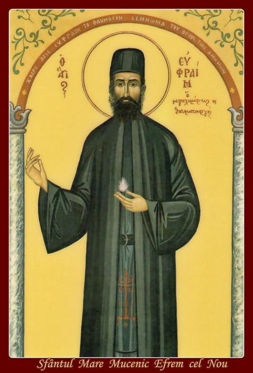 Sfântul Efrem cel Nou, marele făcător de minuni