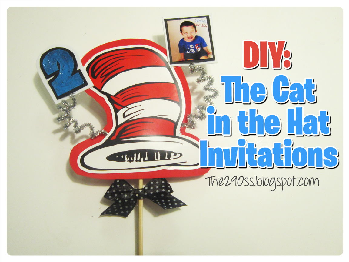 The290ss: The Cat in the Hat Birthday Invitations.