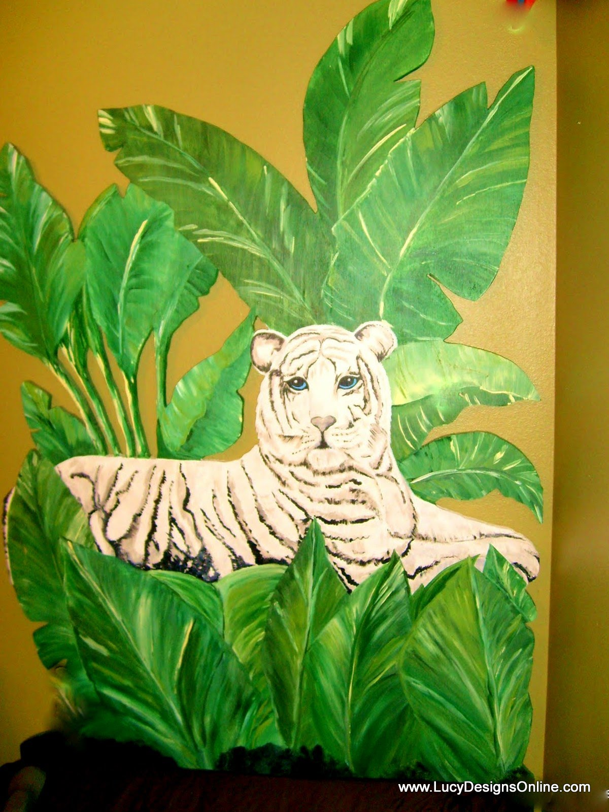 white tiger headboard