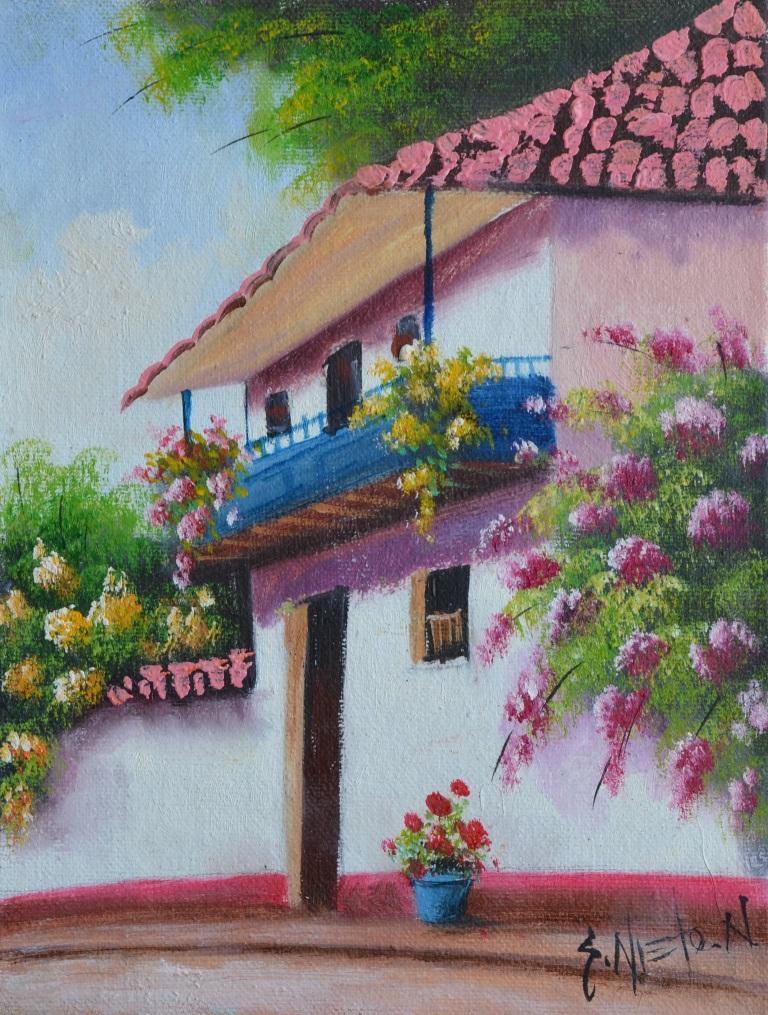 Cuadros modernos pinturas y dibujos paisajes f ciles de for Laminas de cuadros modernos