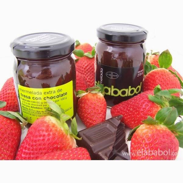 mermeladas el ababol fresa y chocolate sdesabor